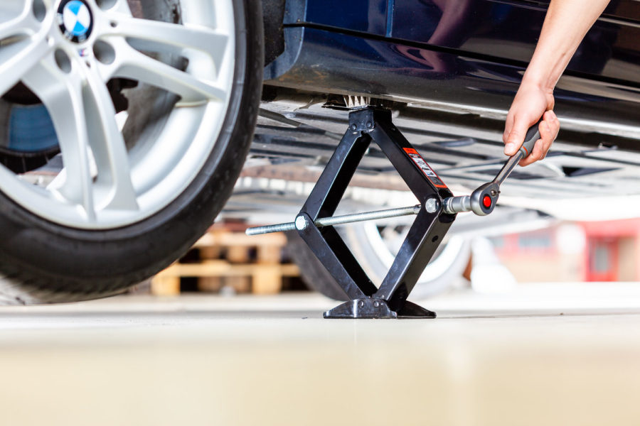 Heavy-duty premium scissor Jack stand 2t for cars and SUV