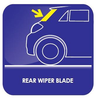 HEYNER Germany Single Rear FLAT Wiper Blade 14 350mm XC70 2007-onwards