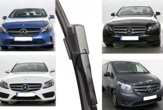 Windscreen wiper blades for Mercedes A class C class GLA GLC